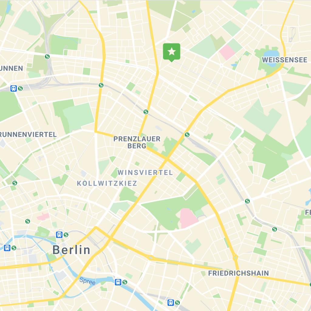 Location of VANI in Berlin